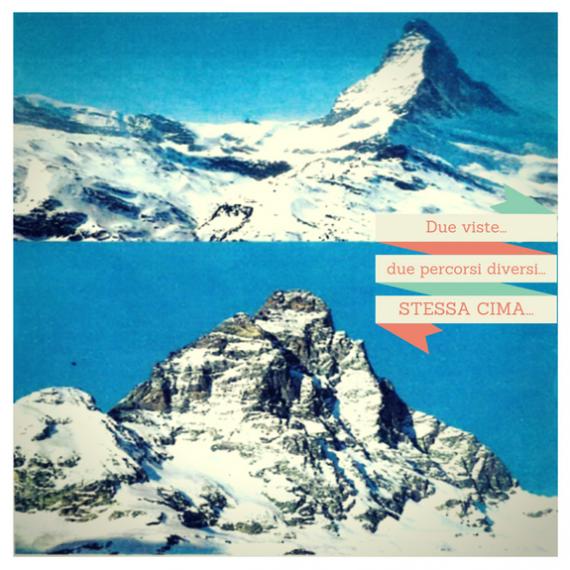 Stessa cima…due viste…due percorsi diversi…